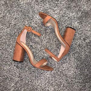 Brown Ankle-Strap Heels